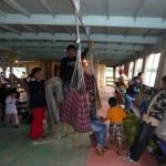 Démontage à l'arrivée à Iquitos