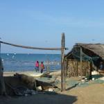 L'océan indien vu des cabanes de pêcheurs