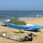 Sur la plage de Négombo