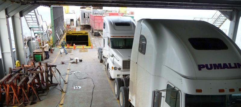 Camiones et veaux en soute!