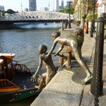 Sculptures sur la rivière Singapore