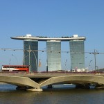 Marina Sands vu depuis la rivière Singapore