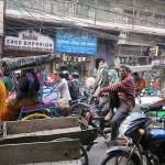 Embouteillage dans Old Delhi