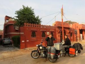 La guesthouse depuis la rue