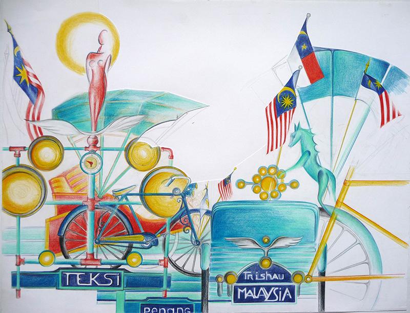 Malaisie -Trishaws