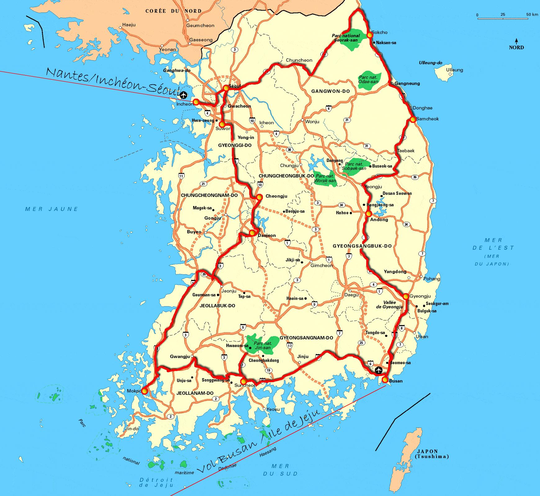 Corée du Sud Gilanik avec vol