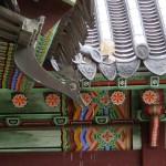 8  gargouilles au Changdeokgung palace de Séoul.