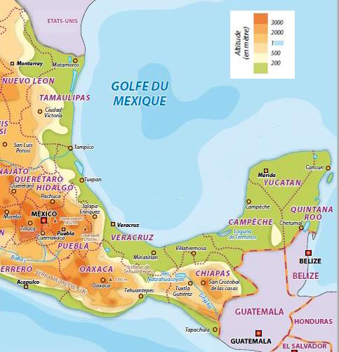 MEXIQUE sud légende