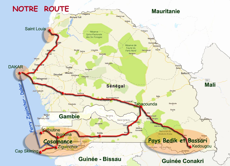 ROUTE GILANIK Sénégal