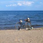 Pas trop pratique le vélo dans le sable!