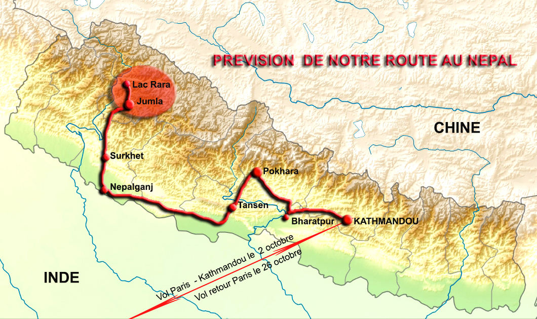 Nepal gilanik 23018 trajettitre