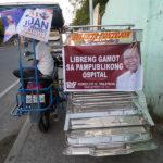 Publicité sur un tricycle GAMOT