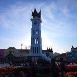 Coucher de soleil sur la tour de l'horloge