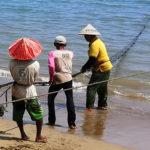 Pêcheurs à Sumatra Ouest
