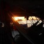 Coucher de soleil sur l'Amazone!