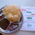 Plat du jour au reto de Haridwar! Inde