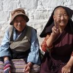 Repos sur la Barkhor - Lassha - Tibet