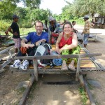 Sur le bamboo train!