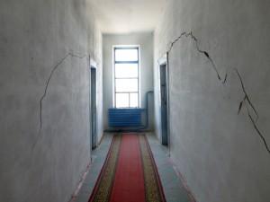 Le couloir craquelé!