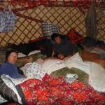 Dans une yourte kirghize