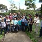 Avec un groupe de jeunes handicapés à San Agustin
