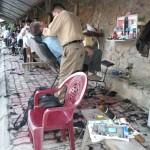Salle d'attente d'un barbier à Cao Bang