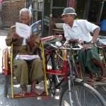 Conducteur de trishaw qui attend le client - Mandalay -