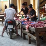 Boucherie drive à Dien Bien Phu - Vietnam