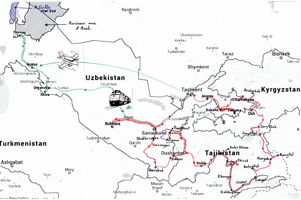 Notre route en Asie centrale 2013