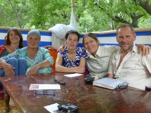 Avec Mavluda et Nigora sur la tapchan