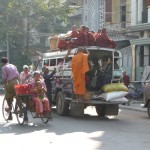 Pick up et trishaw - Mandalay -