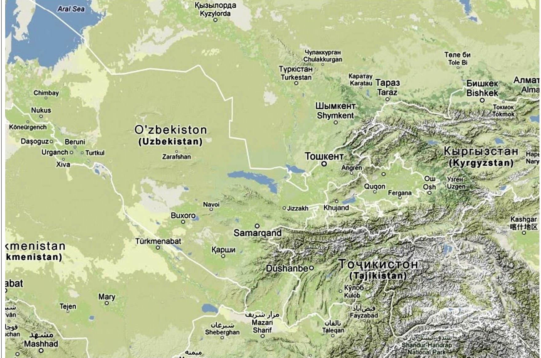 frontiere ouzbekistan tadjikistan
