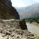 Route le long de l'Afghanistan