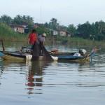 Pêcheurs sur la Sangker river