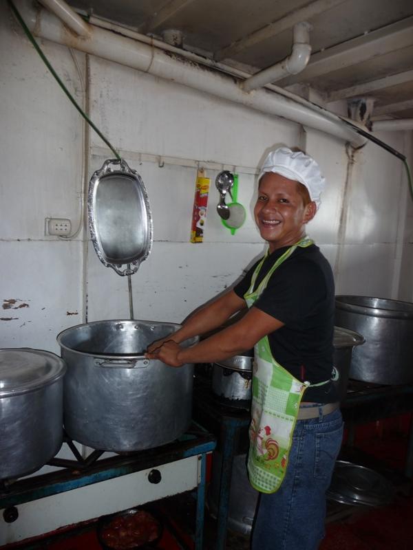 Wilhen, le cuisinier au travail