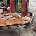 Dans les rues de Lassha  - Tibet