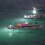 Pêche aux lamparos dans le port