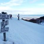 Piste de ski au dessus du port d'Ushuaia - Argentine