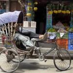 Rickshaw à KTM - Népal