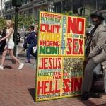 Teneur d'affiche à San Francisco - USA