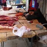 Pas trop de clients à la boucherie tibetaine!