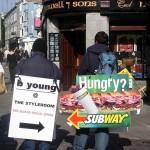 Hommes sandwich à Dublin - Irlande