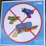 Pistolets à eau interdits hors fête du Sonkran - Laos